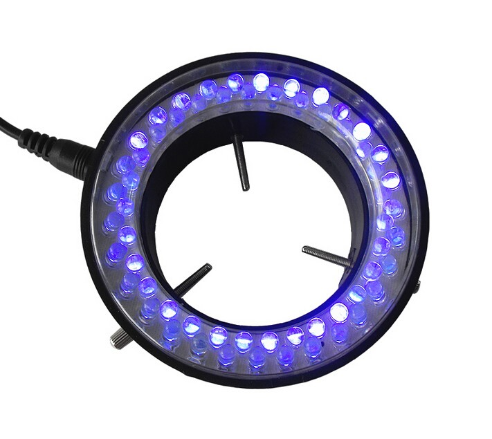 60 LED Purple UV Light Source for Microscope Ring Light Lamp Illuminator with Adapter 220V or 110V