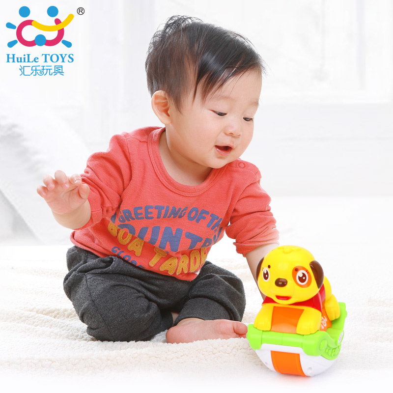 HUILE TOYS 3105A Kids Early Learning Educational Toy Sliding Animals Dog with Songs & Lights Body Development Toys electric educational inchworm with music light toddler learning machine toy toy musical instrument huile toys 927