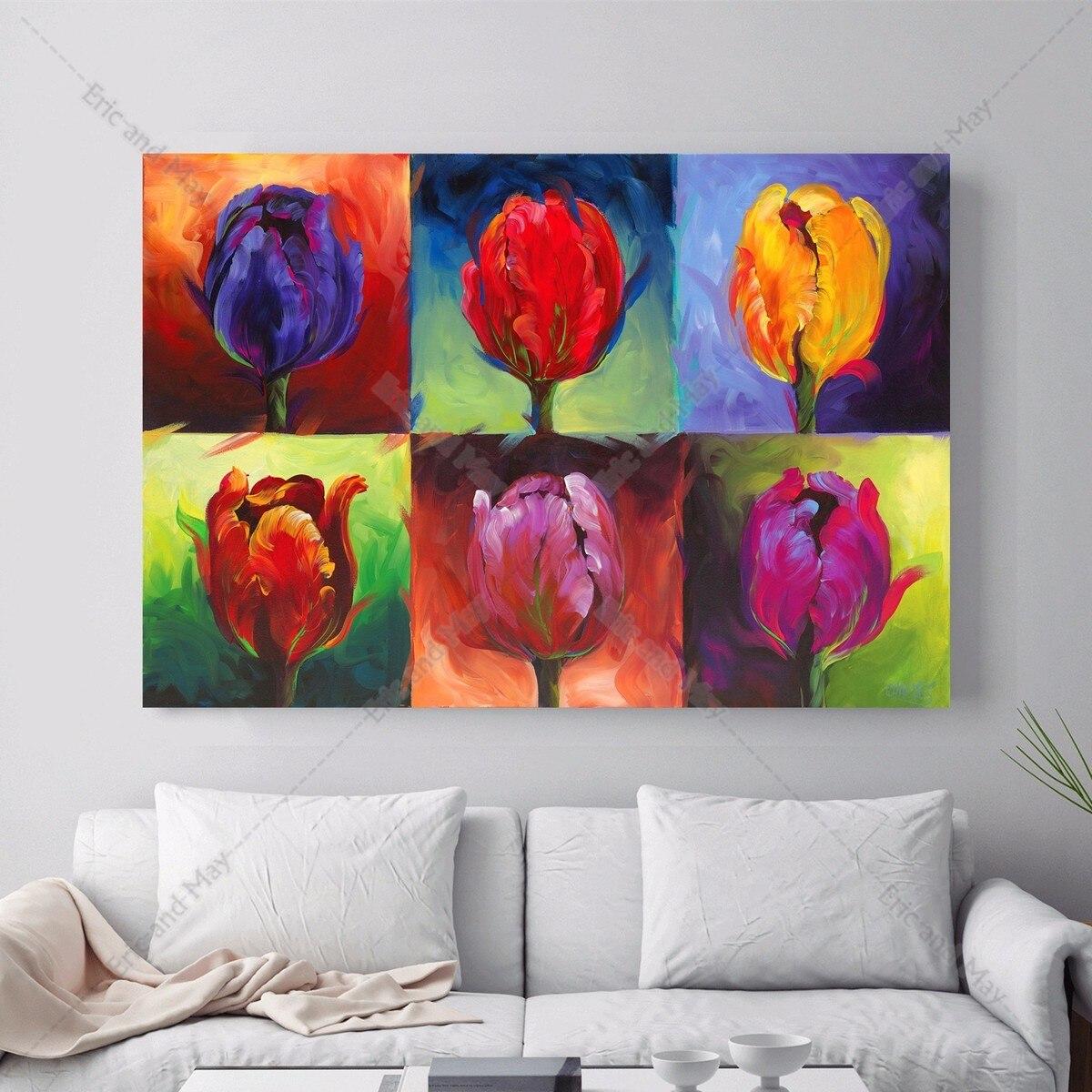 Tulip Pop Art Stil Leinwand Kunstdruck Malerei Poster Wand Bild Fr Wohnzimmer Home Dekorative