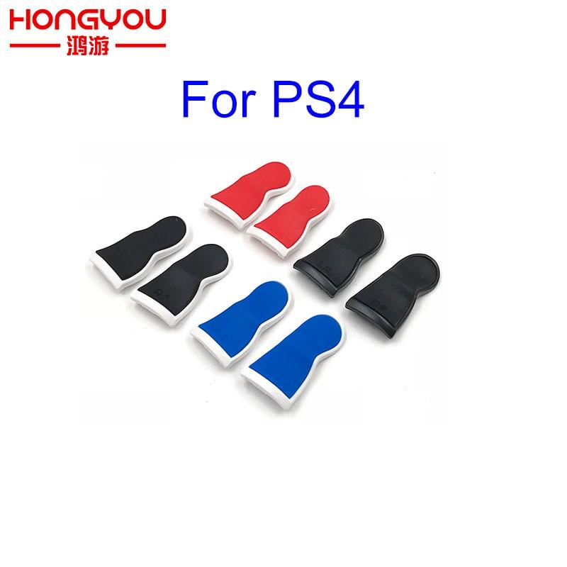 Plastic Rubber Bent L2 R2 Trigger Extended Buttons Kit For Dualshock 4 Playstation 4 PS4 Pro/slim Controller Triggers Extender