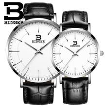 Brand Luxury Binger Casual Nylon Watch Men Waterproof Quartz Watch Male Clock Canvas Nylon Wrist Watch Men Relogio Masculino