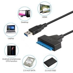 """Image 5 - JZYuan Sata para USB 3.0 Cabo Adaptador USB 3.0 para SATA 22pin SATA III Conversor Para O Portátil de 2.5 """"SATA HDD SSD Disco Rígido"""