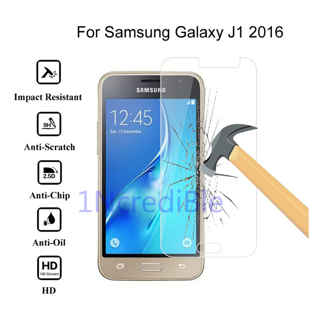 9H 2.5D Tempered Glass On The For Samsung J1 2016 Protective Film Glas For Samsung Galaxy J1 (2016) J120F J1(6) Screen Protector