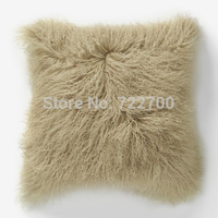 2016 Curly Mongolian Lamb Fur Pillow Cushion Cover Throw Pillow Covers Decorative Cushion Covers Cushions Home Decor 11x18