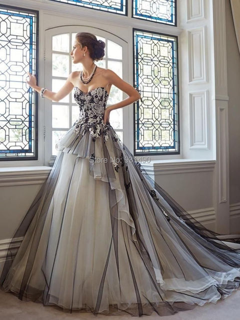 New Arrival Gergrous Strapless Lique Tulle Train Gray Wedding Bridal Ball Gown Customize 2 4 6