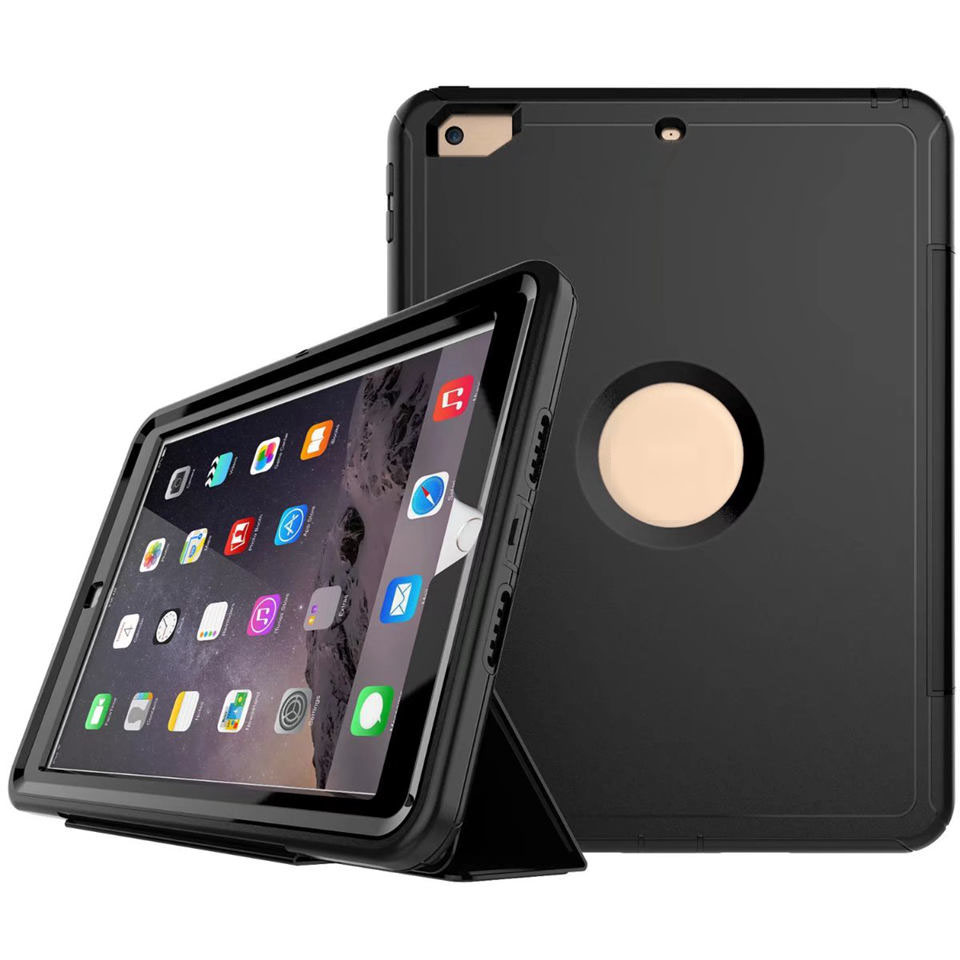 For iPad 2017 2018 9.7 Heavy Duty Shockproof Full Body Protective Cover Magnetic PU Leather Smart Case for iPad 9.7 2017 2018 дырокол deli heavy duty e0130