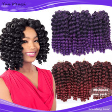 10inch 2X jamaican bounce kinky twist hair tresse crochet braids extensions 20Strands/pack wand curl crochet Braiding hair