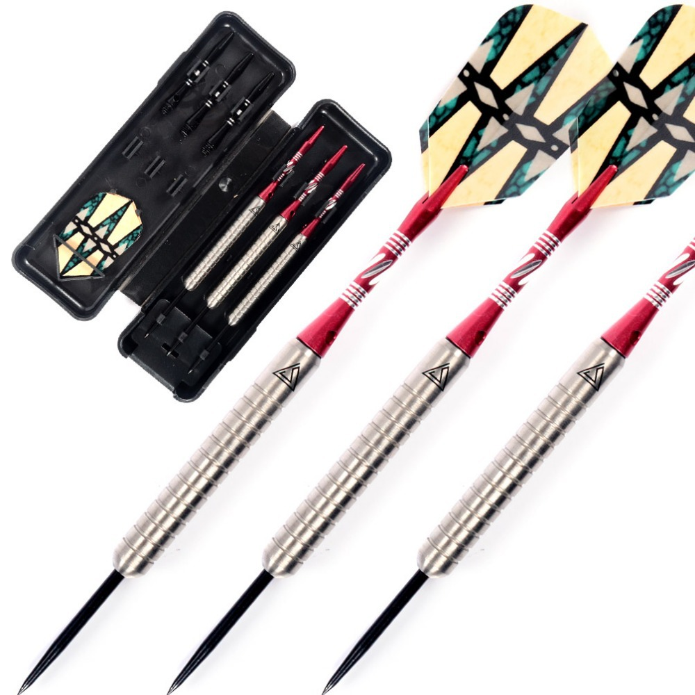 Cuesoul Steel Tip Darts Set 95% Tungsten with 21 Grams Tungsten Barrels cuesoul new tungsten steel tip darts armour series 21 23 grams