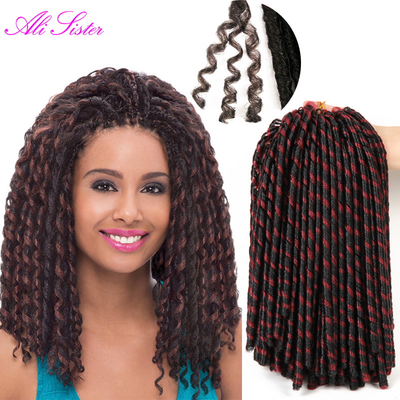 Faux Locs Braiding Hair Crochet Hair Extensions Havana Mambo Twist Crochet Expression Braiding ...