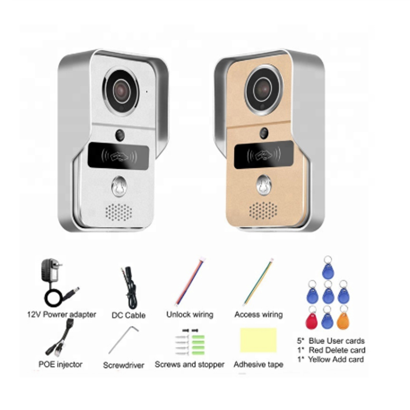 wifi intercom system IP video door phone wireless wifi door bell with HD camera call to android/ios phone/tabletwifi intercom system IP video door phone wireless wifi door bell with HD camera call to android/ios phone/tablet