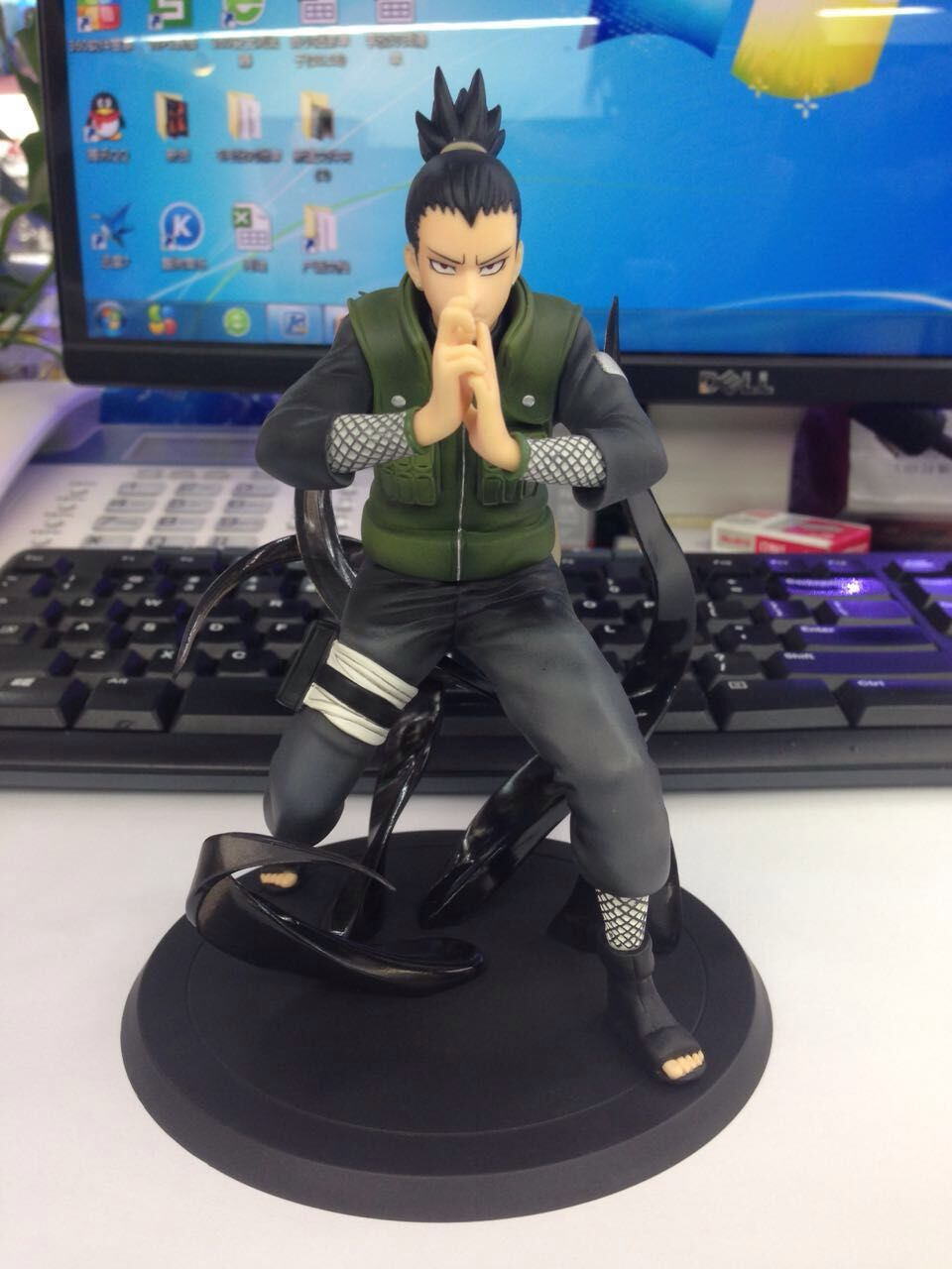 WVW 15CM Hot Sale Anime Heroes Naruto Nara Shikamaru Model PVC Toy Action Figure Decoration For Collection Gift Free shipping