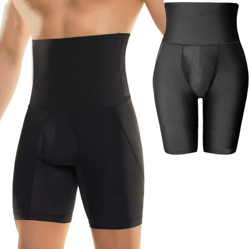 Men High Waisted Tummy Thigh Fat Trimmer Shaper