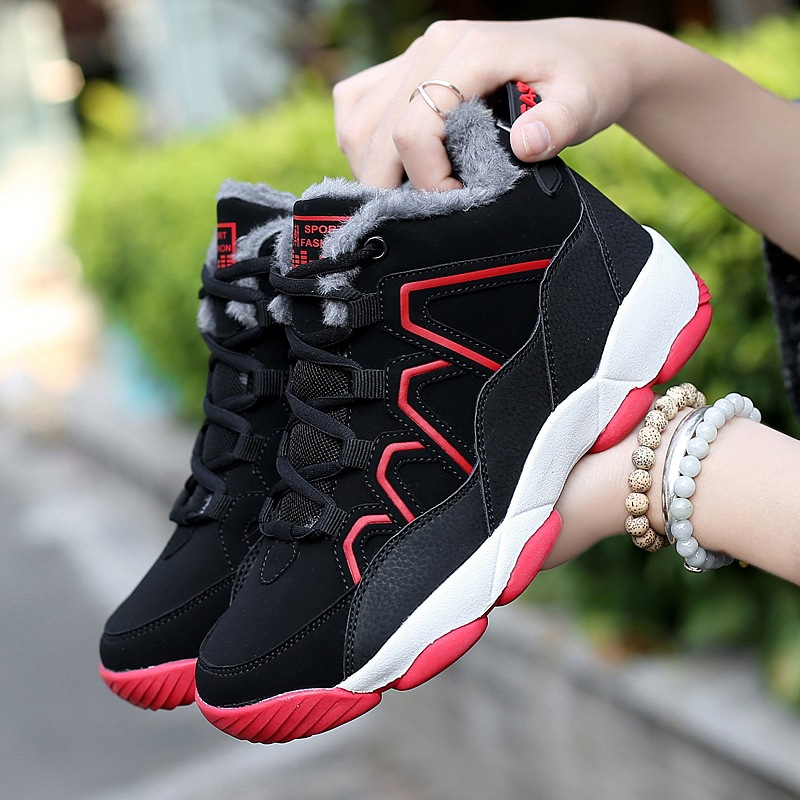 Krasovki Warm Boots Women Dropshipping Winter New Men Shoes Plus Velvet Warm Couples Sneakers Wear resistant Cotton Shoes in Ankle Boots from Shoes
