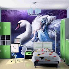 beibehang Customize any size murals papel de parede photo wallpaper roll Children's cartoon Swan murals 3d wallpaper bedroom