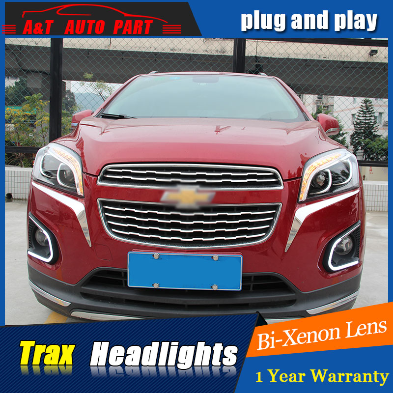 Car Styling LED Head Lamp for Chevrolet Trax headlights 2013-2016 New Trax led headlight led drl H7 hid Bi-Xenon Lens low beam hireno headlamp for mercedes benz w163 ml320 ml280 ml350 ml430 headlight assembly led drl angel lens double beam hid xenon 2pcs
