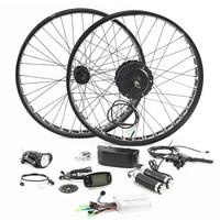 Fat BIKE 48V 500W Motor Wheel Electric Bike Kit Electric Bicycle Conversion Kit for 26 inch Rear Wheel Motor Brushless Gear Hub