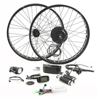 Fat BIKE 48V 500W Motor Wheel Electric Bike Kit Electric Bicycle Conversion Kit for 26 inch Rear Wheel Motor Brushless Gear Hub