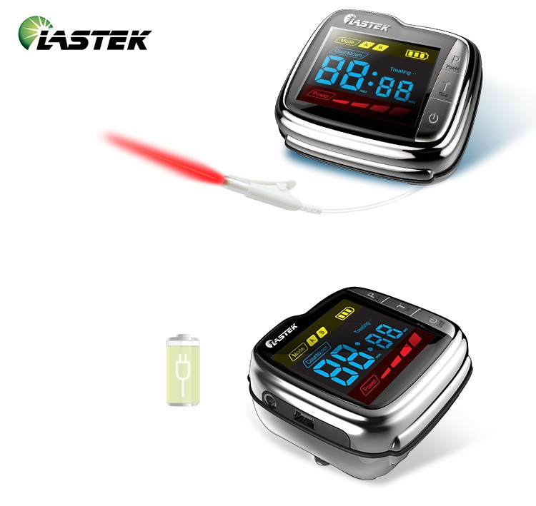 LASTEK home use low level laser therapy blood pressure monitor watch lastek low level laser therapy wrist watch blood pressure monitor diabetes treatment device