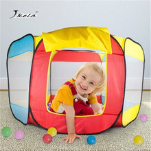 цена Baby Bed Fence Plastic Home Safety Gate Products child Care Safe Foldable Playpens Game Pool of Balls for Kids Gifts1m 1.2m 1.5m онлайн в 2017 году
