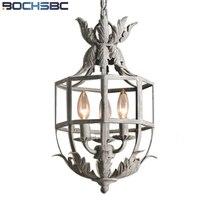 BOCHSBC francés lámpara colgante retro flor americana lámpara colgante aplicar dormitorio salón estudio comedor habitación salón Veranda lámpara Led