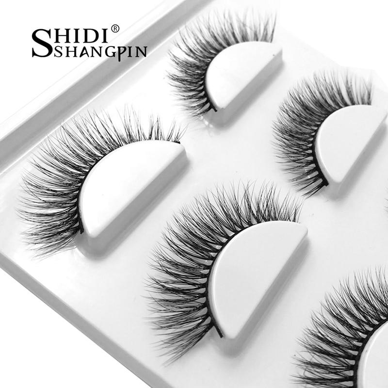 1 Box Natural Long 3D Mink Lashes Handmade False Eyelashes Wispy Mink - Makeup - Photo 2