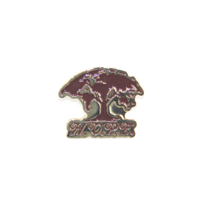 Low price metal badge cheap big tree logo plating paint badge K200345 in Pins Badges from Home Garden