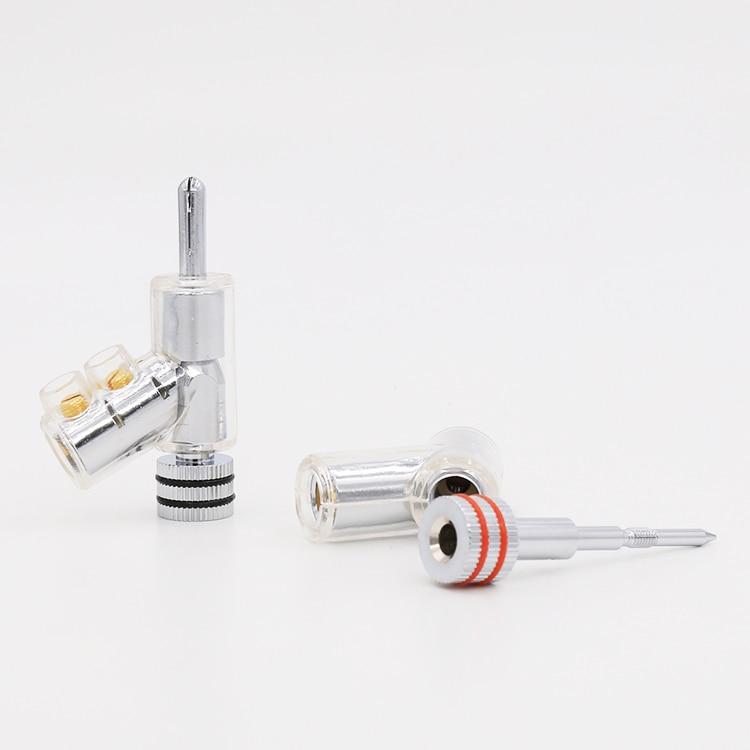 VB202R Hallo End Rhodium Überzogene SPERRE LAUTSPRECHER KABEL BANANA STECKER STECKER x-in Elektrische Stecker aus Verbraucherelektronik bei  Gruppe 1