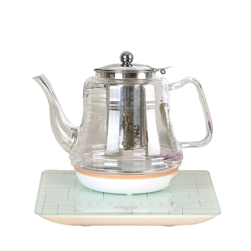 Electric kettle flower pot glass boiling water kettles 1 8l electric kettle heating hot water 1500w electric boiling pot food grade material