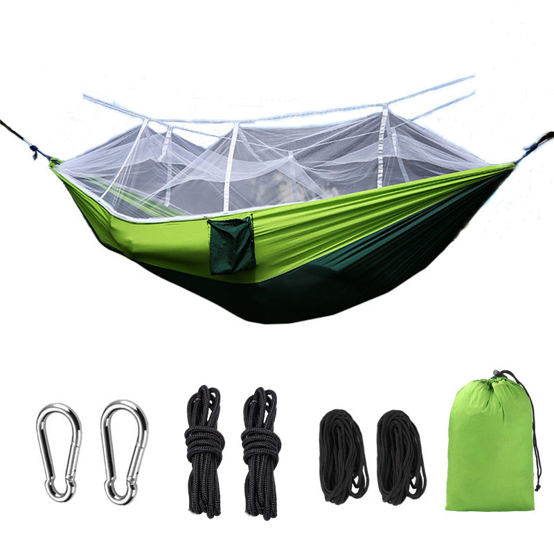 Portable Hammock with Mosquito Net Durable for Outdoor Camping Traveling Beach ASD88