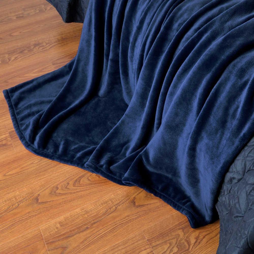 Супер мягкое Коралловое Флисовое одеяло 220gsm легкий вес однотонный розовый синий искусственный мех норка Бросок Диван крышка покрывало фланелевое одеяло s