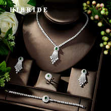HIBRIDE Beauty Micro pave AAA CZ Jewelry Sets Cubic Zirconia Necklace Earring Set Wedding Party Jewelry Accessories N 278