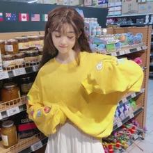 Harajuku Fashion Long Sleeve Women Hoodies Sweet Cute Cartoo