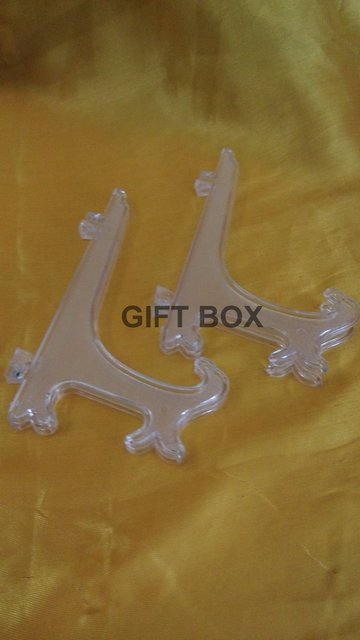 Lof Of 10pcs Clear 9 Display Easel Stand Plate Picture Frame Holder Lot