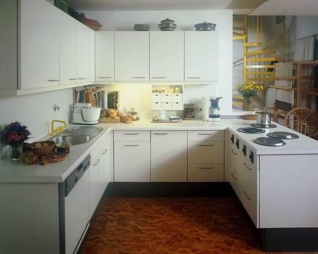 Moderne armoires de cuisine avec haute brillance blanc laque ...