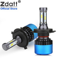 Zdatt 2Pcs Car Headlight H4 Led Bulb H1 H7 H8 H9 H11 9005 HB3 Canbus 80W