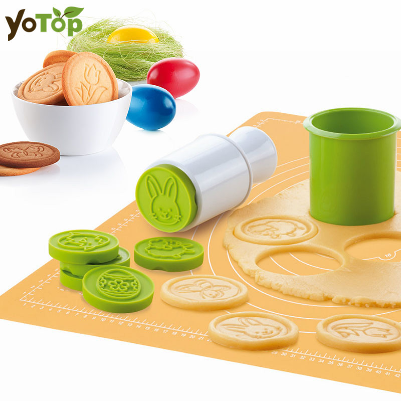 YOTOP 6pcs/set Cartoon Stamps Moulds Christmas Tree Cookie Tools Cake Decoration Bakeware Kitchen Gadgets Accessories Supplies