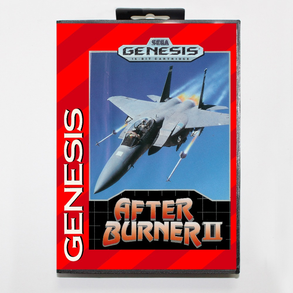 After Burner 2 16 bit MD card with Retail box for Sega MegaDrive Video Game console system
