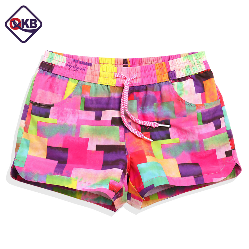 QIKERBONG Women Boxers Trunks Casual Active Bermudas Workout Cargos Woman Beach Boardshorts Quick Drying