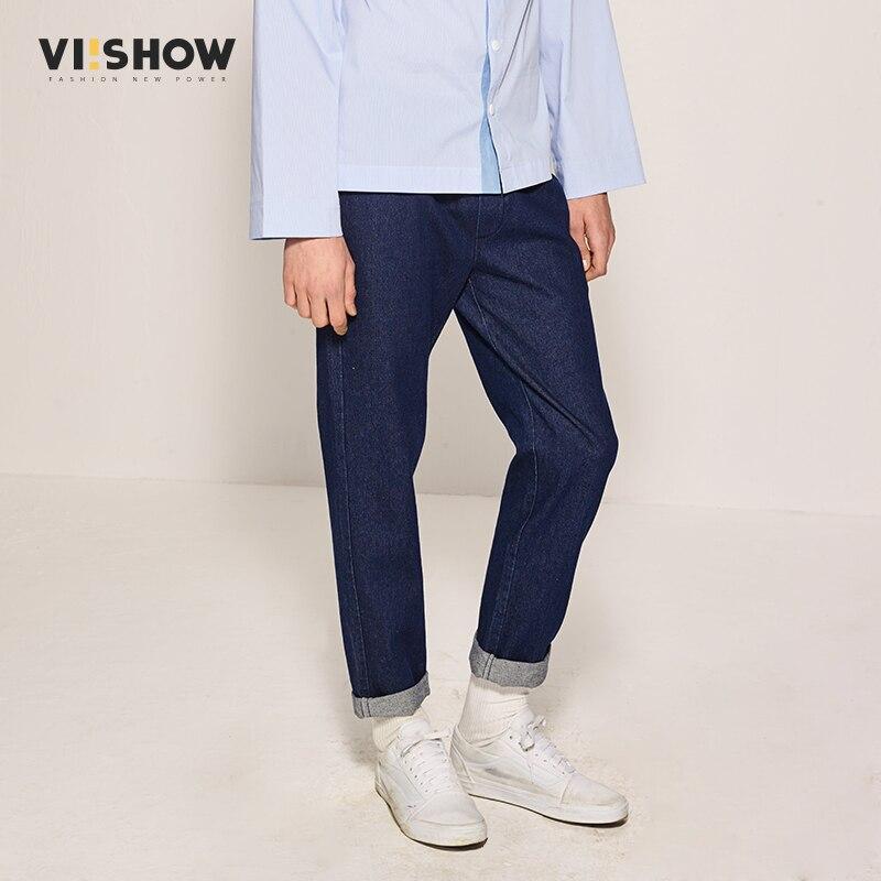 VIISHOW font b Men b font s Casual Pants Fashion Spring Long Cotton Denim Trousers font