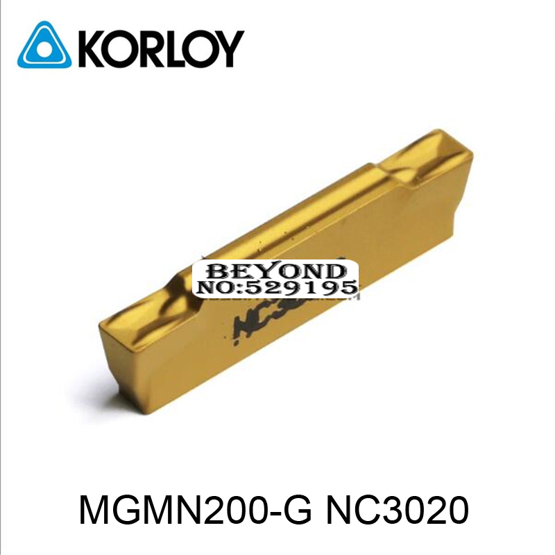 MGMN200 G NC3020 MGMN Two headed Cnc Cutting Korloy Coated Carbide Turning Insert For Grooving Holder