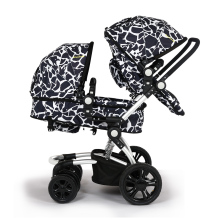 Wellbaby twins baby stroller double front and rear folding