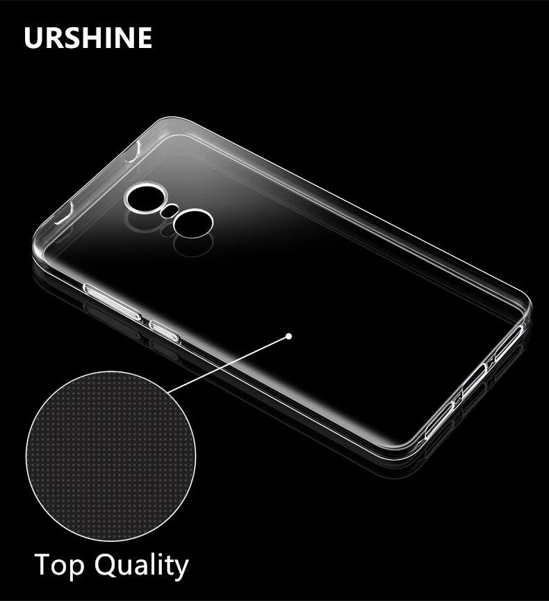 Urshine ясно ТПУ чехол для телефона Для Сяо Mi красный Mi Note 4&#215;4 3 5A Pro Prime 3 S <font><b>4A</b></font> Mi 5 Mi 6 6 Mi 5S плюс Mi 4c Mi X Max 2 Ми A1 5X крышка