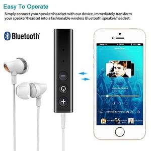 Image 4 - Bluetooth מקלט אודיו 4.1 סטריאו דיבורית לרכב משדר אלחוטי מתאם A2DP AUX 3.5mm מוסיקה מקלטים עבור אוזניות