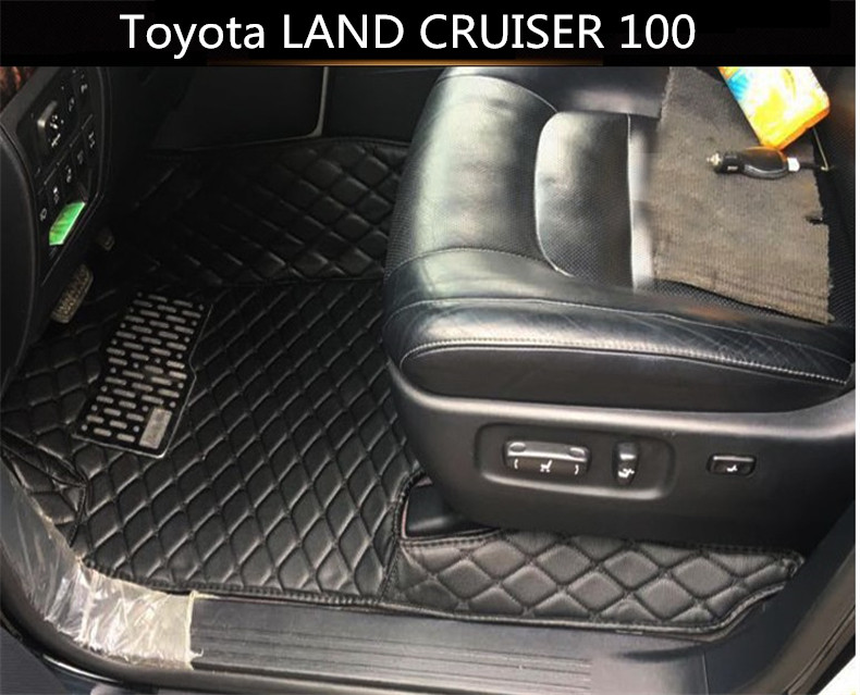Auto Floor Mats For Toyota LAND CRUISER 100 1998-2007 Foot Carpets Car Step Mats High Quality Brand New Embroidery Leather Mats auto floor mats for honda cr v crv 2007 2011 foot carpets step mat high quality brand new embroidery leather mats