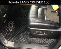 Auto Floor Mats For Toyota LAND CRUISER 100 1998 2007 Foot Carpets Car Step Mats High Quality Brand New Embroidery Leather Mats