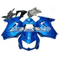 For Kawasaki EX250R / Ninja 250 2008 2009 2010 2011 2012 08 12 ABS Plastic Shiny Blue Cowlings Injection Mold Fairing Kit