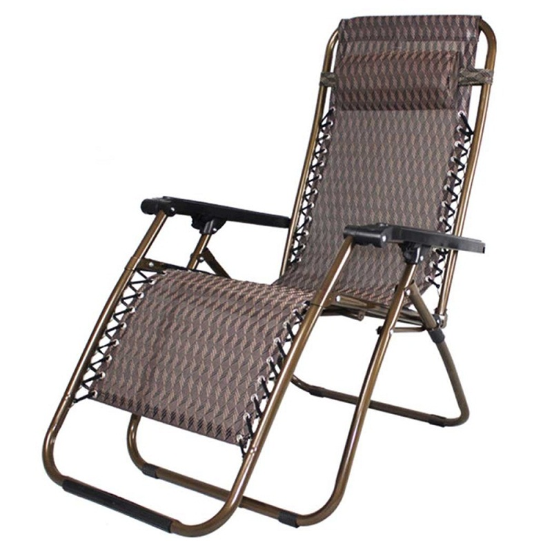 HLC Zero Gravity Lounge Chair Brown Patio Chairs Outdoor Yard Folding Reclining Chair Outdoor Breathable Christmas