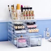 Cosmetic Holder Big size transparent box Fashion cosmetics drawer Fashion Acrylic Cotton Swab Organizer Box L50