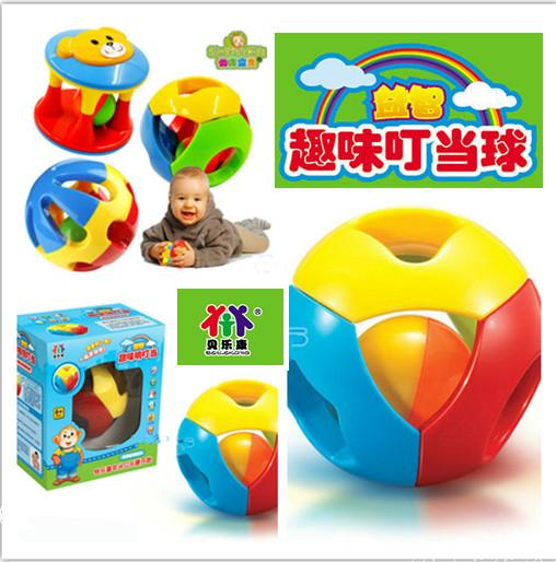 Baby toys multicoloured hearing bells tinkling ball exercise and flexible fingers Childrens toys