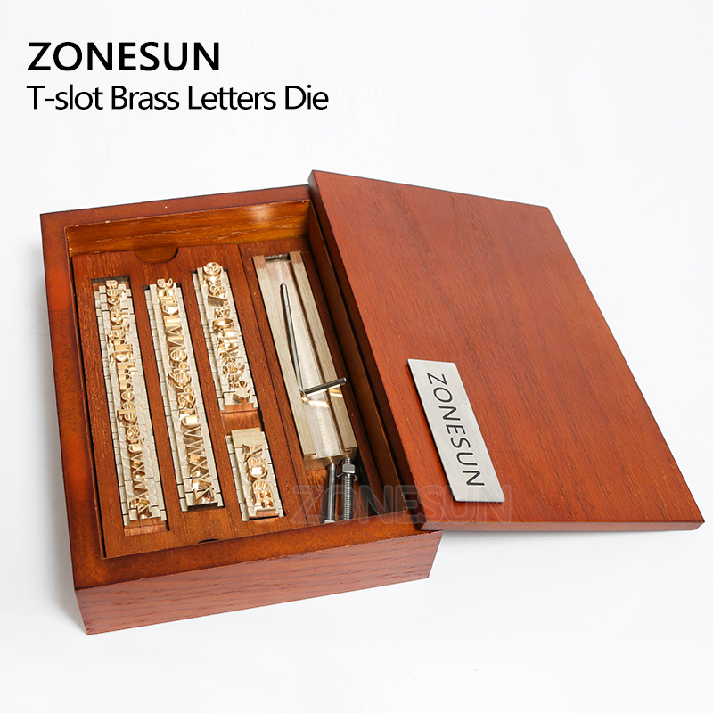 ZONESUN 6 mmpersonnalisé en laiton timbre bois bricolage artisanat Alphabet lettre numéro symbole en cuir timbres estampage envie outil marque fer moule - 4